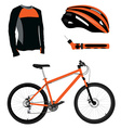 Bicycle helmet pump and shirt vector image