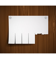 blank ads on the wooden wall vector image vector image