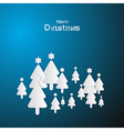 Blue Abstract Merry Christmas Background