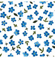 blue flowers in blossom seamless pattern vector image vector image