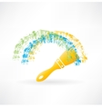 brush and paints icon vector image vector image
