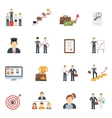 career icons flat set vector image vector image