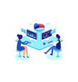 colleagues working in workplace isometric style vector image vector image