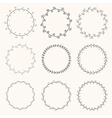 collection hand drawn round wreaths vector image vector image