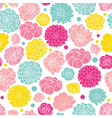 colorful spring flowers seamless repeat vector image