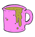 comic cartoon coffee mug vector image vector image