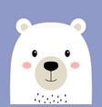 cute arctic polar bear isolated vector image vector image