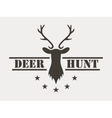 Deer hunt Hunting club logo in vintage style vector image vector image