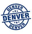 denver blue round grunge stamp vector image vector image
