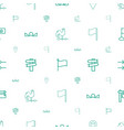 direction icons pattern seamless white background vector image vector image