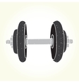 Dumbbell vector image vector image