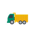 dump truck icon design template isolated vector image