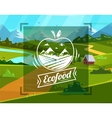 Eco food typography design on background vector image vector image