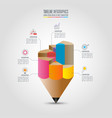 education infographics template 6 step option vector image vector image