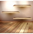 Empty wooden shelf background EPS 10 vector image vector image