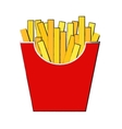 fast food fried french gold fries potatoes vector image