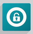 flat unlock icon vector image