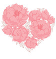 Flower heart vector image