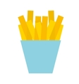 french fries isolated icon design vector image vector image