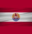 french polynesia flag flag of french polynesia vector image