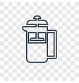 french press concept linear icon isolated on vector image