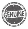 genuine grunge rubber stamp vector image vector image
