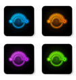 glowing neon thermostat icon isolated on white vector image vector image