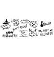 happy halloween hand drawn creative calligraphy vector image