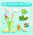 kiwi avocado delicious healthy smoothies vector image vector image