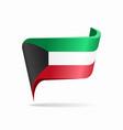 kuwaiti flag map pointer layout vector image