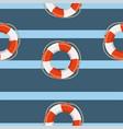 lifebuoy cruise marine seamless pattern vector image