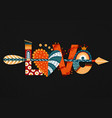 love hand drawn lettering happy valentines day vector image vector image