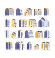 minimal apartment houses residential buildings vector image vector image