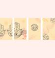 modern social media yoga stories layout set vector image vector image