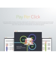 Pay Per Click Design Concept Style vector image vector image