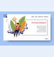 rehab clinic and physiotherapy patient vector image