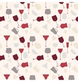 Seamless background pattern of retro alcoholic vector image vector image