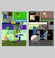 set 2 color variants 18-51 vector image