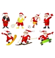 set for christmas with Santa Claus vector image