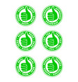 set of thumbs up stamps vector image vector image