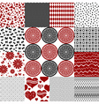 Set seamless monochrome patterns vector image vector image