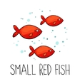 Small red fish made in vector image