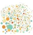 Splatter Dot Background vector image vector image