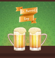 st patrick s day beer card vector image vector image