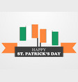 st patricks day irish flag on white background vector image vector image