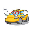 super hero taxi character cartoon style vector image