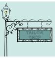 tailor shop retro vintage street sign vector image vector image