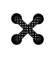 template lace-up black cross lacing scheme vector image