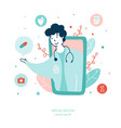 virtual doctor online medical services flat vector image vector image