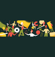 wide panorama header abstract geometric shapes vector image vector image